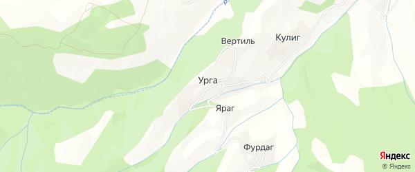 Карта села Урги в Дагестане с улицами и номерами домов