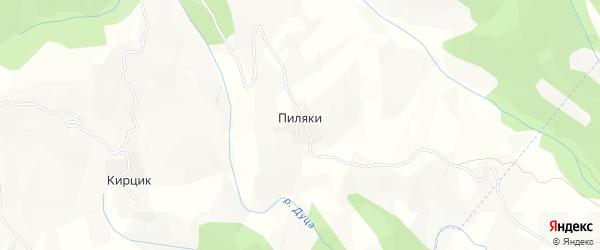 Карта села Пиляки в Дагестане с улицами и номерами домов