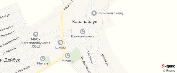 Махачкалинская улица на карте села Караная Аула с номерами домов
