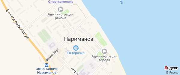 Набережная улица на карте Нариманова с номерами домов