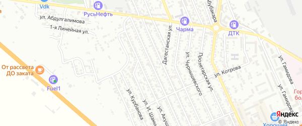 Улица С.Юсупова на карте Избербаша с номерами домов