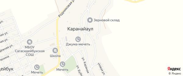 Улица Ирчи Казака на карте села Караная Аула с номерами домов