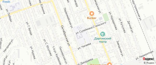 Улица С.Стальского на карте Избербаша с номерами домов