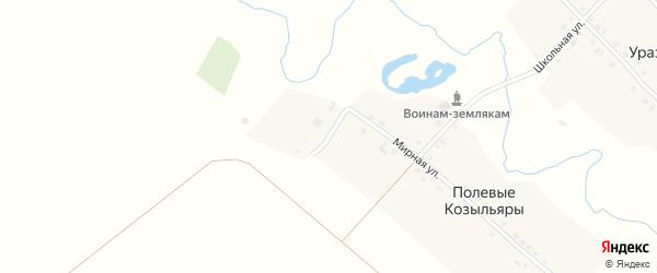 Полевая улица на карте деревни Полевые Козыльяры с номерами домов