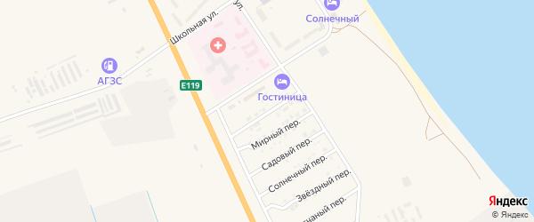 Северный переулок на карте Нариманова с номерами домов