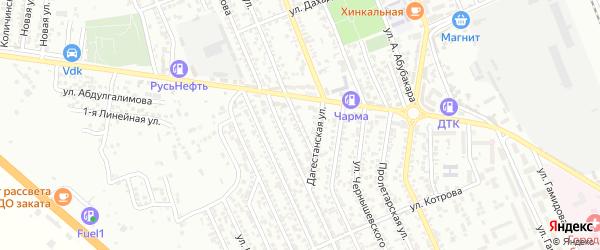 Улица Космонавтов на карте Избербаша с номерами домов