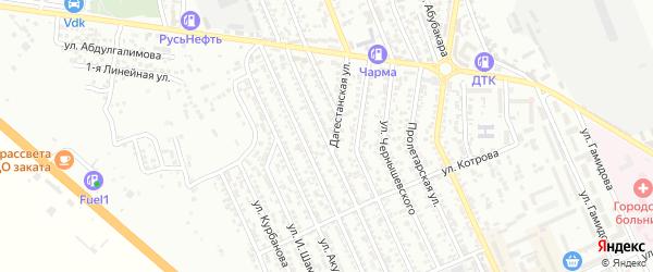 Улица 1-я Казбекова на карте Избербаша с номерами домов