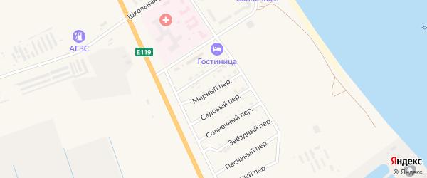 Мирный переулок на карте Нариманова с номерами домов