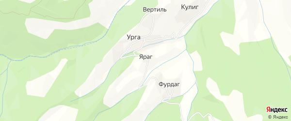 Карта села Ярага в Дагестане с улицами и номерами домов