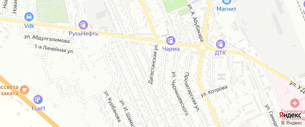 Дагестанская улица на карте Избербаша с номерами домов