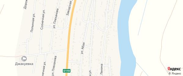 Степная улица на карте Волжского села с номерами домов