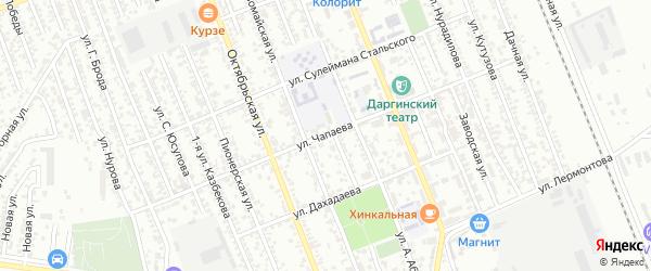 Улица Чапаева на карте Избербаша с номерами домов