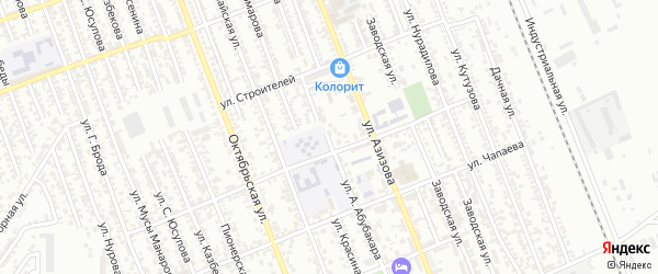 Улица А.Абубакара на карте Избербаша с номерами домов