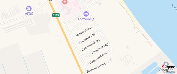 Садовый переулок на карте Нариманова с номерами домов