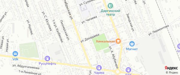 Улица Дахадаева на карте Избербаша с номерами домов