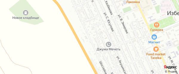 Шоссейная улица на карте Избербаша с номерами домов
