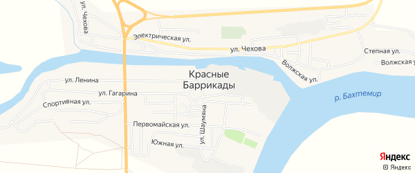СТ Судостроитель-1 на карте поселка Красные Баррикады с номерами домов