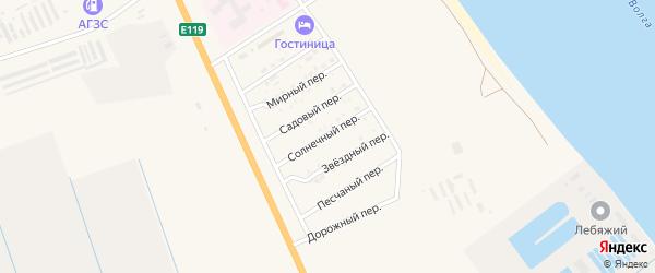 Солнечный переулок на карте Нариманова с номерами домов