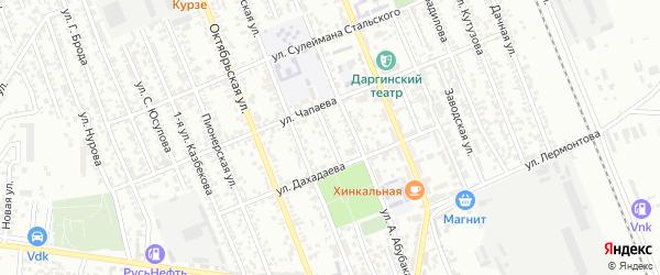 Улица Красина на карте Избербаша с номерами домов