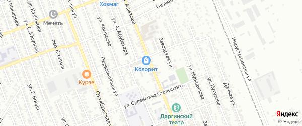 Улица Г.Азизова на карте Избербаша с номерами домов