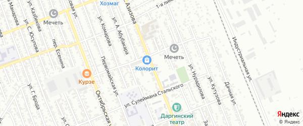 Улица Азизова на карте Избербаша с номерами домов