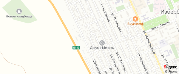 Улица С.Курбанова на карте Избербаша с номерами домов