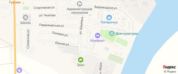 Молодежная улица на карте поселка Красные Баррикады с номерами домов