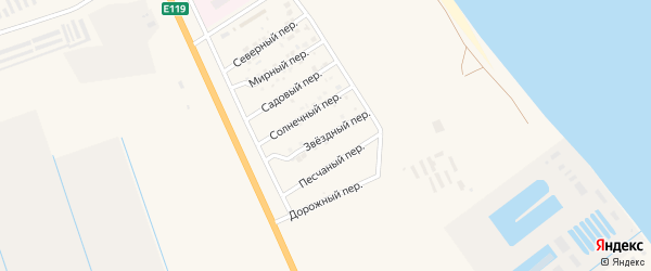 Звездный переулок на карте Нариманова с номерами домов