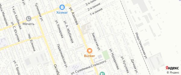 Заводской переулок на карте Избербаша с номерами домов