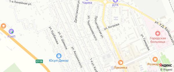 Улица Котрова на карте Избербаша с номерами домов