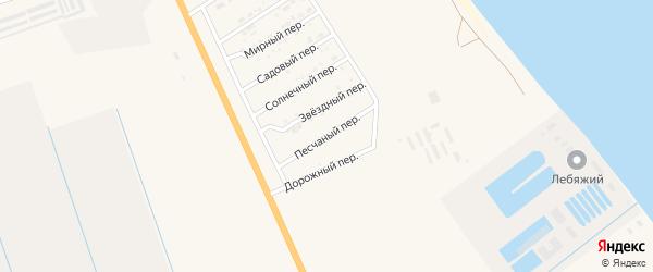 Песчаный переулок на карте Нариманова с номерами домов