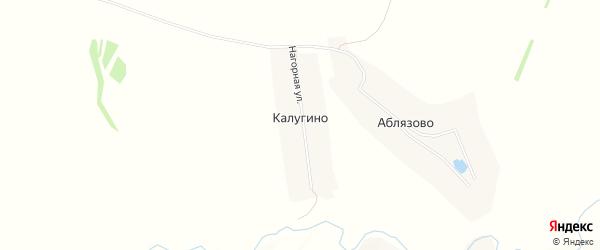 Карта деревни Калугино в Чувашии с улицами и номерами домов