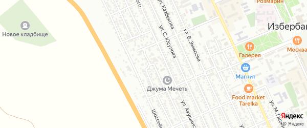 Улица И.Шамиля на карте Избербаша с номерами домов