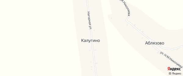 Нагорная улица на карте деревни Калугино с номерами домов