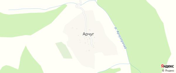 Лесная улица на карте села Арчуга с номерами домов
