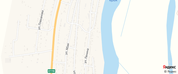 Улица Ленина на карте Волжского села с номерами домов
