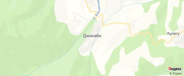 Карта села Джинаби в Дагестане с улицами и номерами домов
