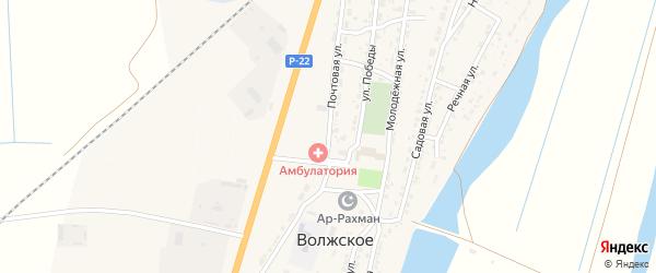 Почтовая улица на карте Волжского села с номерами домов