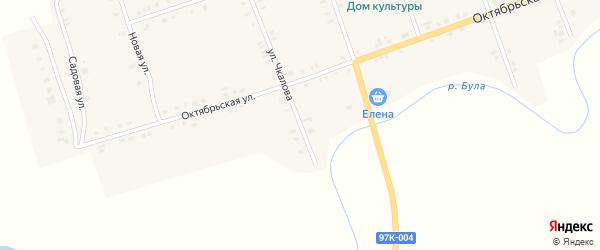 Улица Чкалова на карте села Янтиково с номерами домов