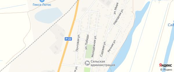 Улица Победы на карте Волжского села с номерами домов