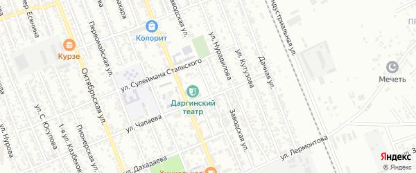 Заводская улица на карте Избербаша с номерами домов