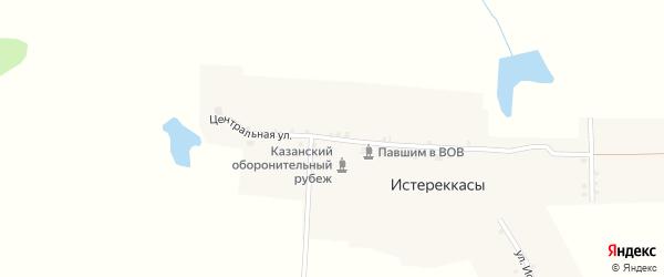 Центральная улица на карте деревни Истереккас с номерами домов
