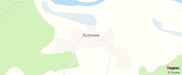 Карта деревни Путятино в Архангельской области с улицами и номерами домов