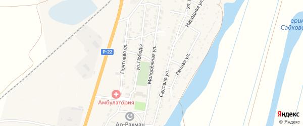 Молодежная улица на карте Волжского села с номерами домов
