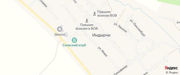 Улица Мира на карте деревни Индырч с номерами домов