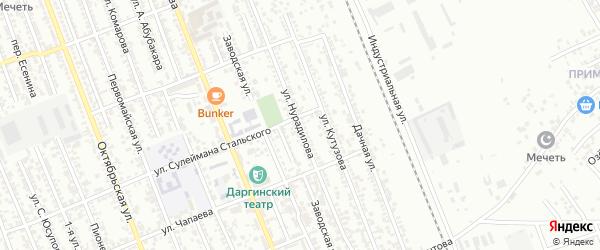 Улица Нурадилова на карте Избербаша с номерами домов