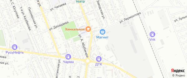Улица Лермонтова на карте Избербаша с номерами домов