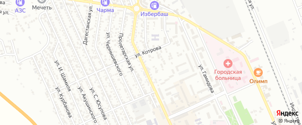 9 Мая улица на карте Избербаша с номерами домов