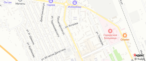Улица С.П.Королёва на карте Избербаша с номерами домов