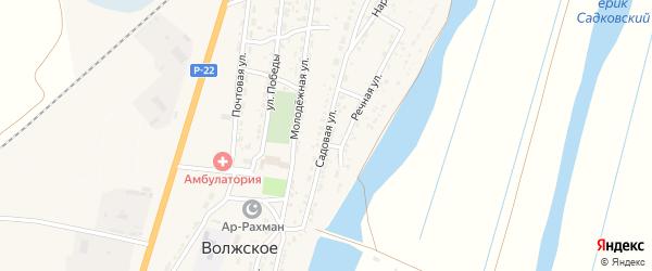 Садовая улица на карте Волжского села с номерами домов